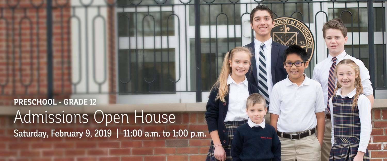 PreK - 12 Admissions Open House | February 9, 2019 | 11 a.m.- 1:00 p.m.